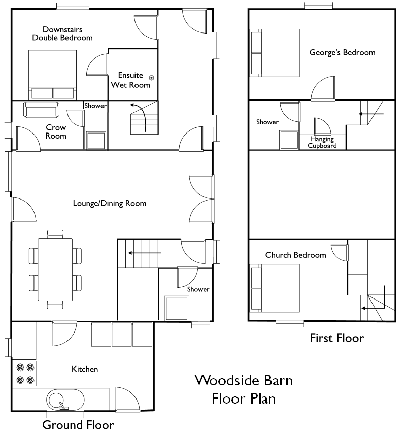Rustic barn floor plans for Barn home floor plans